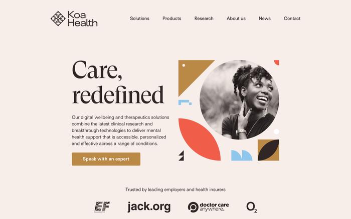 Koa Health website 1