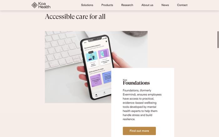 Koa Health website 2