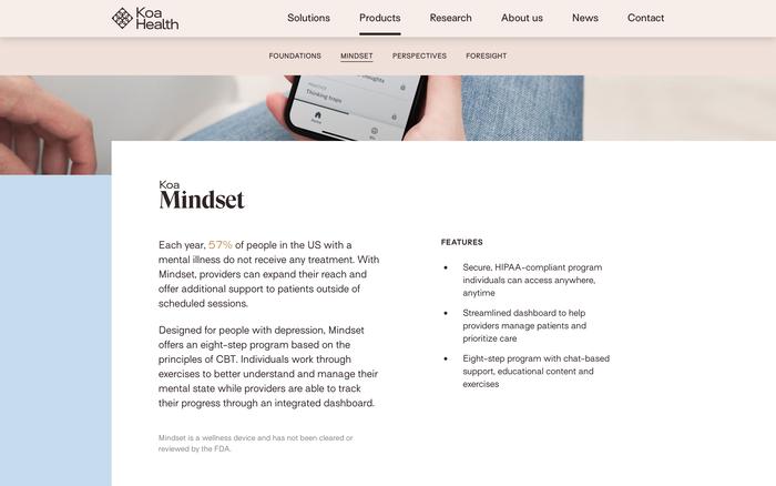 Koa Health website 3