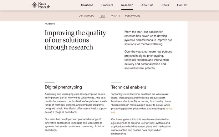 Koa Health website 5