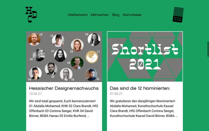 Hessen Design Competition website (2020) 3
