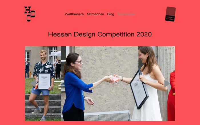 Hessen Design Competition website (2020) 4