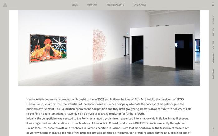 Hestia Artistic Journey website 6