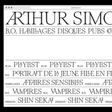 Arthur Simonini website