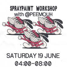 Spray Paint Workshop flyers