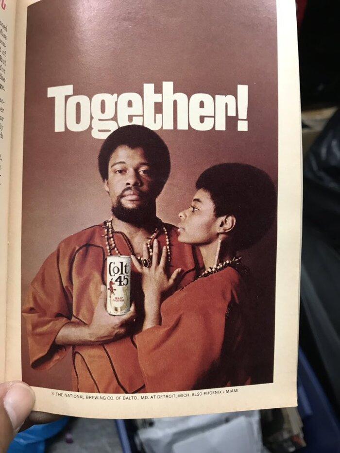 """""""Together!"""" ad for Colt 45 (1969) 2"""