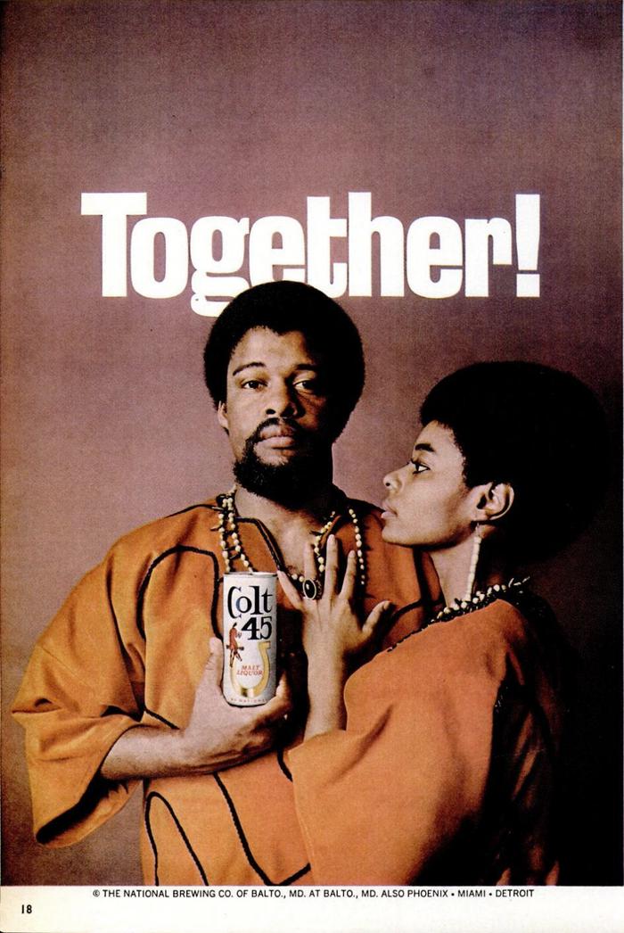 """""""Together!"""" ad for Colt 45 (1969) 1"""