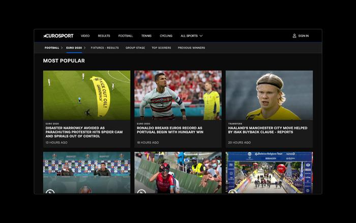 Eurosport rebrand 2020 2