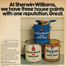 Sherwin-Williams house paint ad (1972)