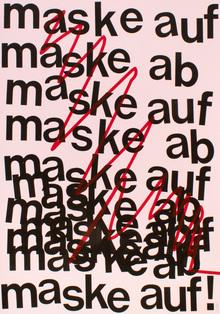 """""""Maske auf, Maske ab"""" poster"""