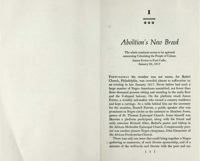 Opening page from the first chapter.