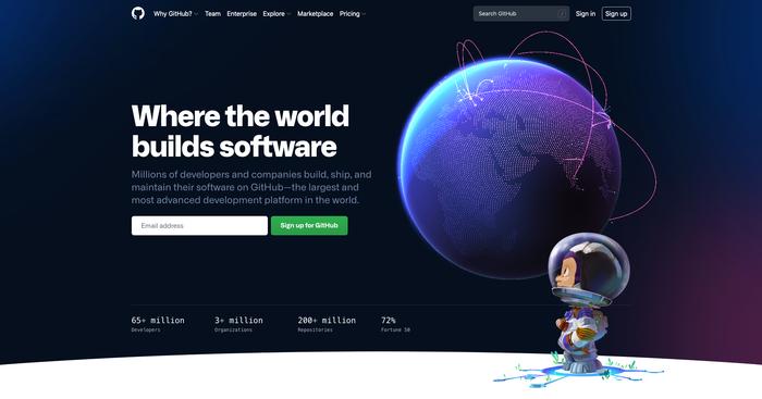 GitHub website (2021) 1
