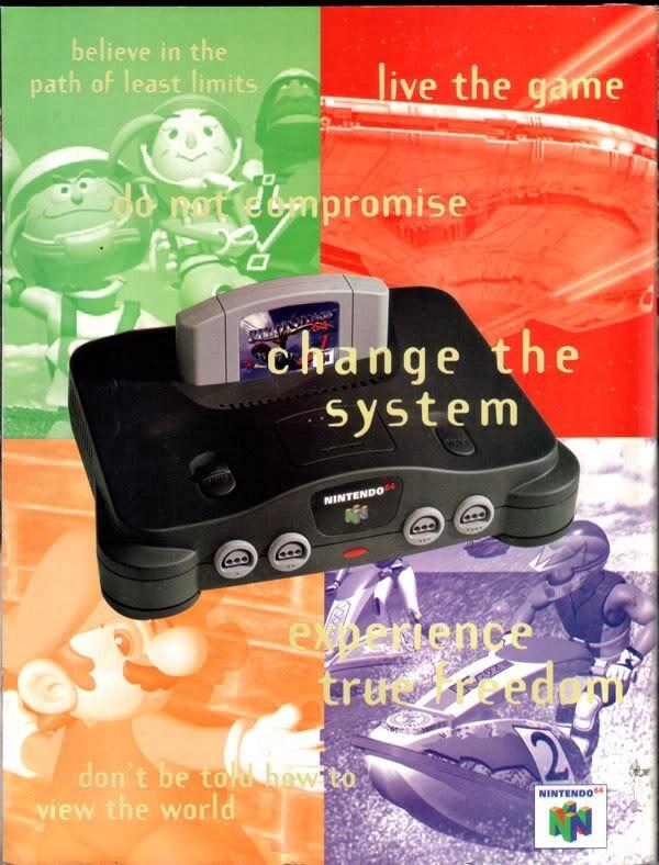 Nintendo 64 gaming console ad (1996)