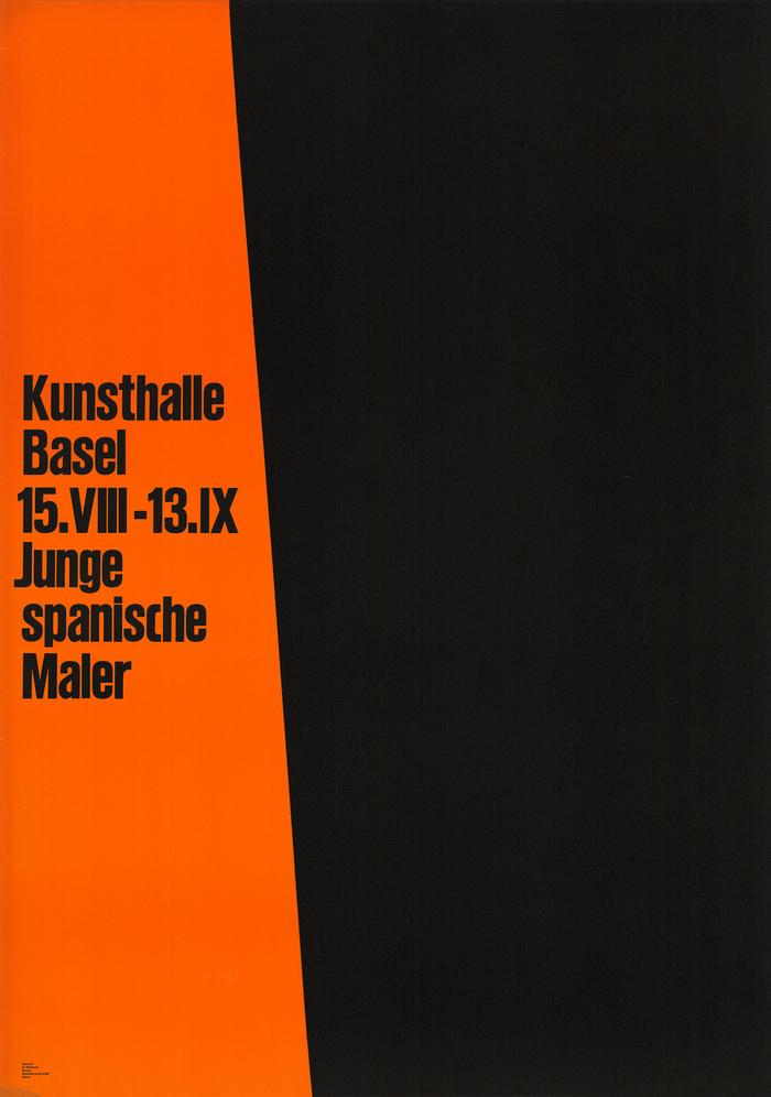 Armin Hofmann, Junge spanische Maler – Kunsthalle Basel, letterpress / linocut, 128×90.5 cm.