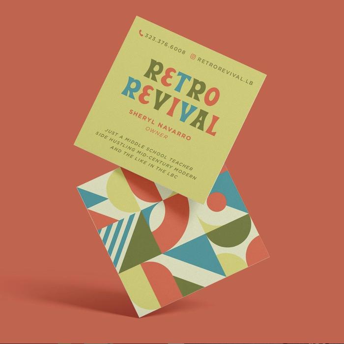 Retro Revival logo and business cards