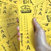 Hoodzpah ruler bookmarks