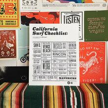 """California Surf Checklist"" poster"