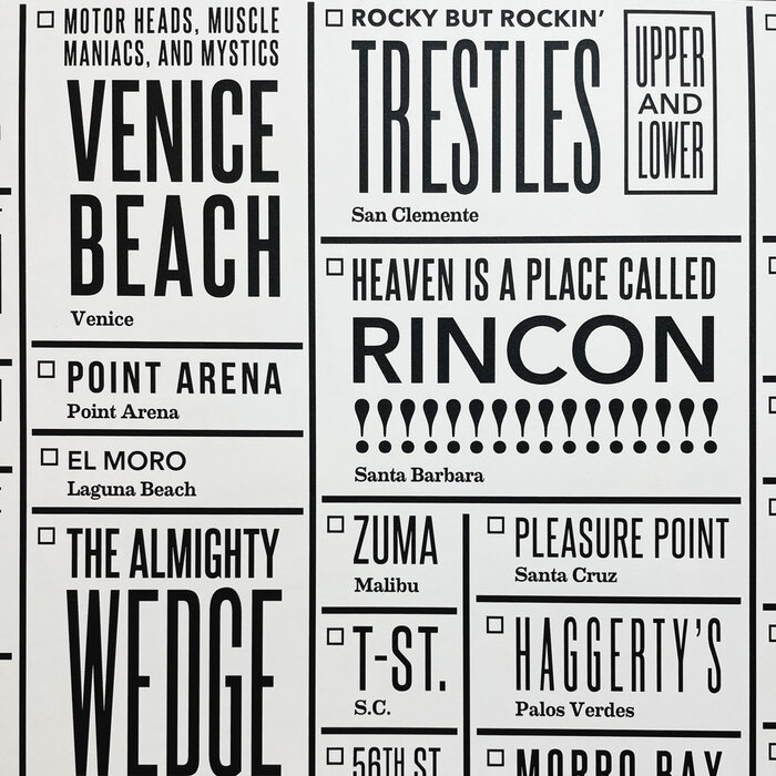 """California Surf Checklist"" poster 4"