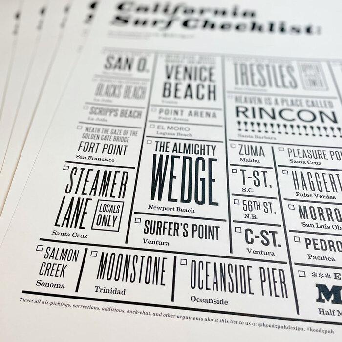 """California Surf Checklist"" poster 5"