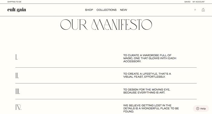 Cult Gaia website 8