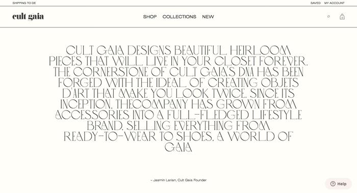 Cult Gaia website 7