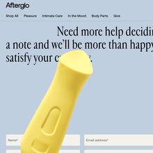 Afterglo website