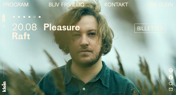 Website of Klein, Sydhavnen's venue.