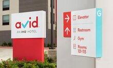 Avid Hotels visual identity