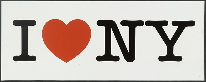 """""""I ❤️ NY"""" presentation board, one-line version, 1976, as archived in MoMA's permanent collection."""