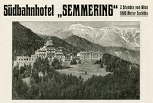 "Südbahnhotel ""Semmering"" ad (1913)"