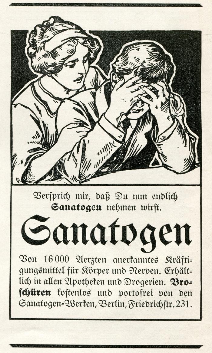 Sanatogen ad (1913)