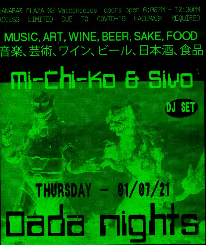Dada Nights flyers, June/July 2021 2