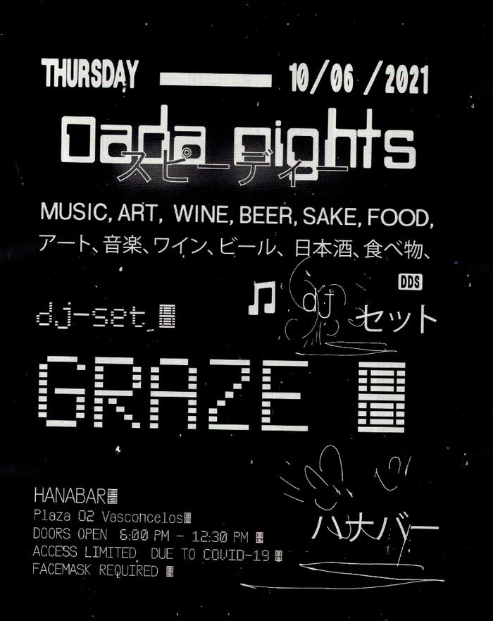 Dada Nights flyers, June/July 2021 3