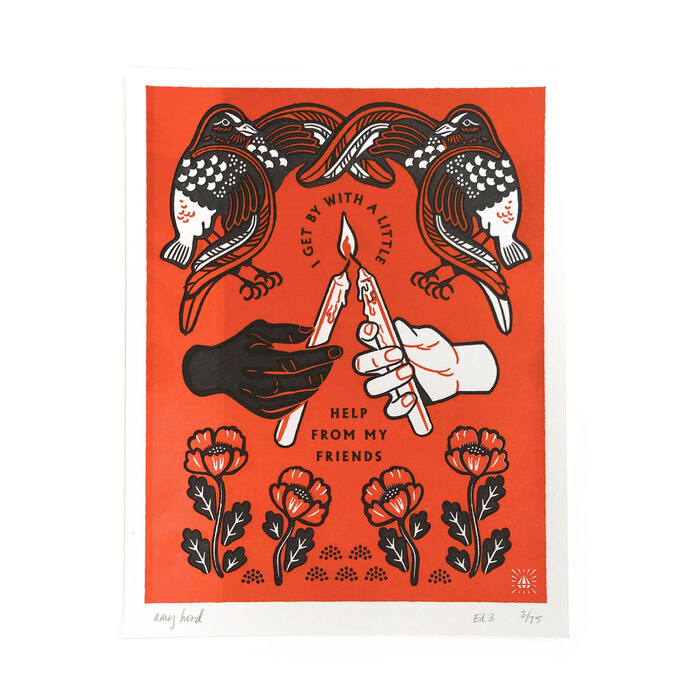 """My Friends"" letterpress prints 2"