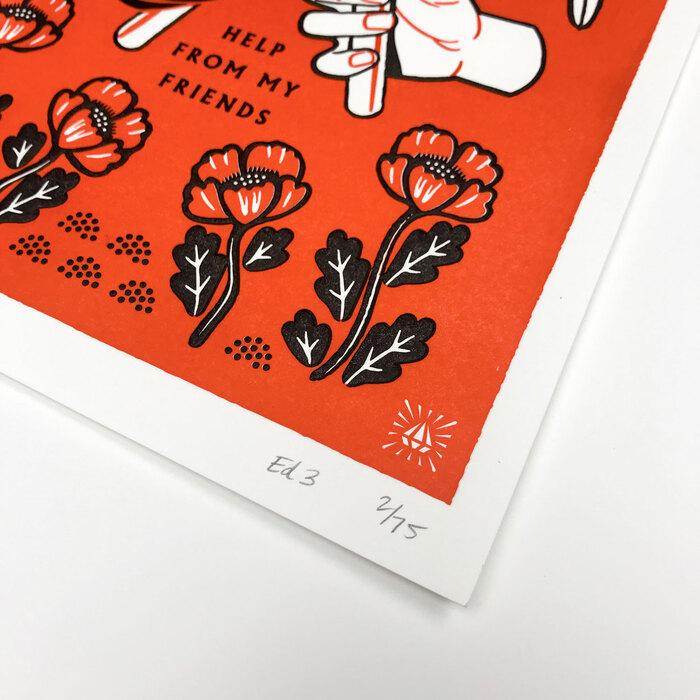 """My Friends"" letterpress prints 3"