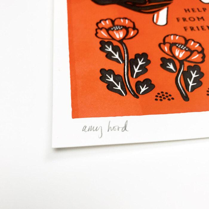 """My Friends"" letterpress prints 4"