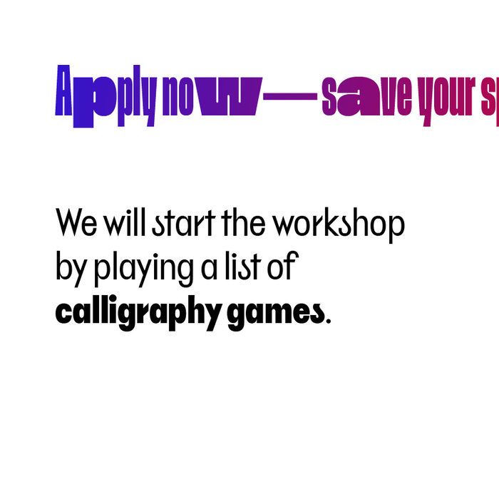 Experimental calligraphy workshop, Ljubljana 5