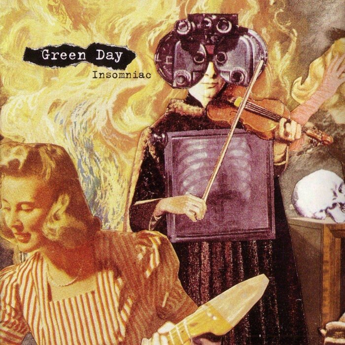 Front cover of Green Day's Insomniac album.