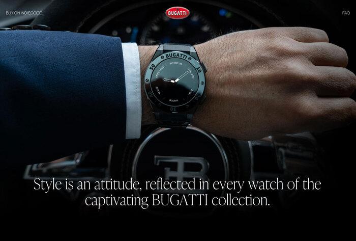 Bugatti smartwatches website 4