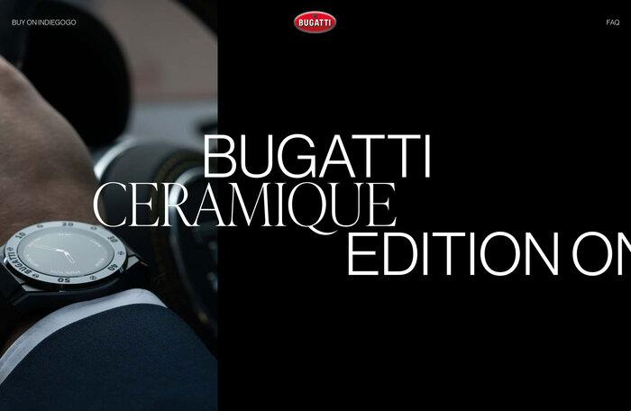 Bugatti smartwatches website 2