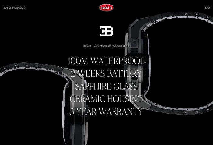 Bugatti smartwatches website 6