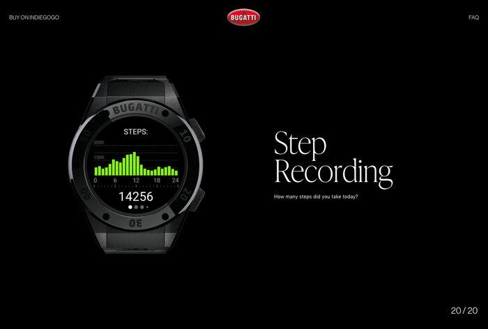 Bugatti smartwatches website 7
