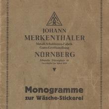 <cite>Monogramme zur Wäsche-Stickerei</cite>, Johann Merkenthaler catalog