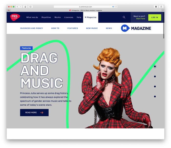 PRS for Music website 5