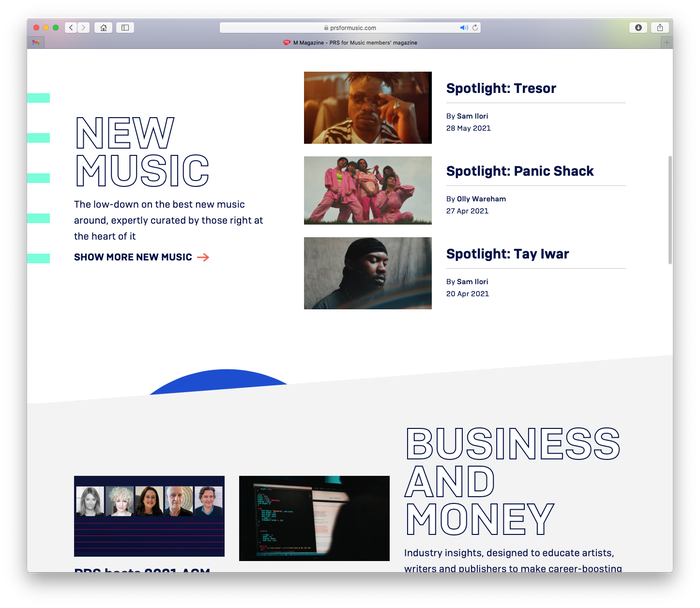 PRS for Music website 6