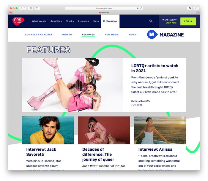 PRS for Music website 10