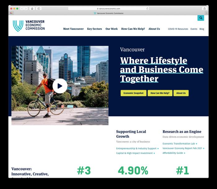 Vancouver Economic Commission website 2