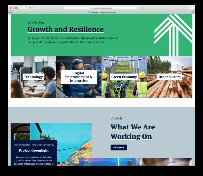 Vancouver Economic Commission website 3