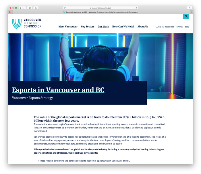 Vancouver Economic Commission website 4