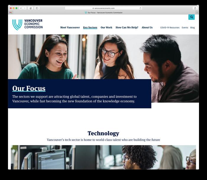 Vancouver Economic Commission website 5